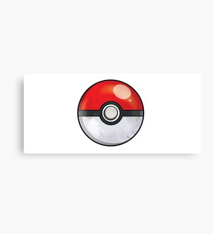 Pokeball Pokemon GO Canvas Print