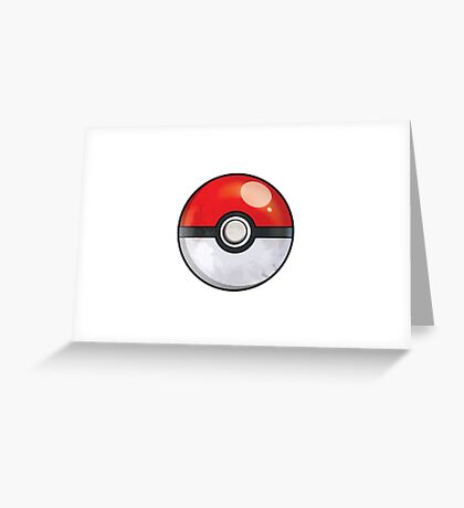 Pokeball Pokemon GO Greeting Card