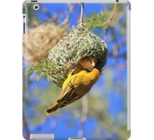Masked Weaver - African Wild Birds - Home Shopping iPad Case/Skin