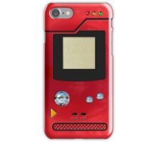 red retro pokedex iPhone Case/Skin