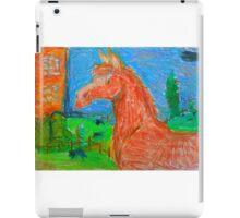 Chesnut horse in pastels iPad Case/Skin