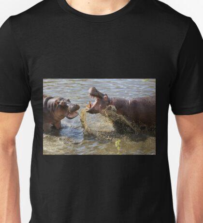 Male Hippos Fighting Unisex T-Shirt