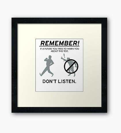 Remember! Framed Print