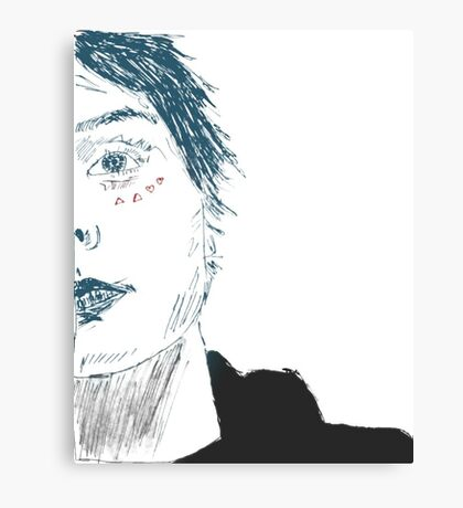 gerard way  - coloured Canvas Print