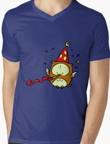 Owl Mens V-Neck T-Shirt