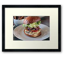 Grass Fed Bison Hamburger with Lettuce and Cheese Framed Print