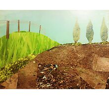 Countryside farmland collage  Photographic Print