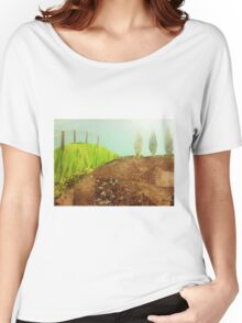 Countryside farmland collage  Women's Relaxed Fit T-Shirt