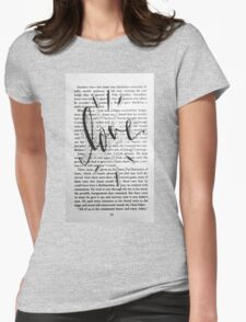 Love In Words Womens Fitted T-Shirt