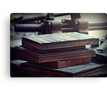 Printing Plates Canvas Print