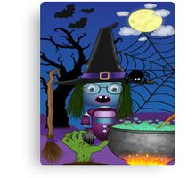 Robo-witch Canvas Print