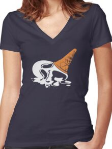 i SCREAM Women's Fitted V-Neck T-Shirt