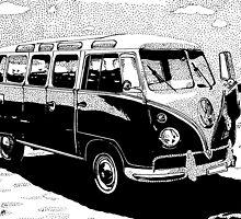 Volkswagen Bus by Michael Blais