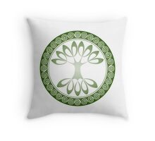 Tree of Life - grass green Throw Pillow
