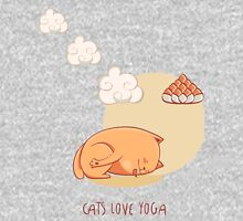 Red Yoga Cat in Garland pose Unisex T-Shirt