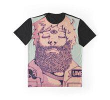 Flower Beard Love Graphic T-Shirt