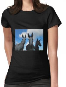 Donkey dudes.. Womens Fitted T-Shirt