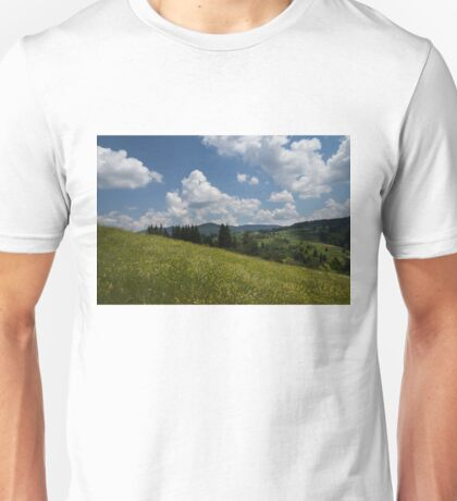Wildflower Meadow in the Mountain Unisex T-Shirt