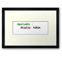 Funny Periodic table coding Framed Print