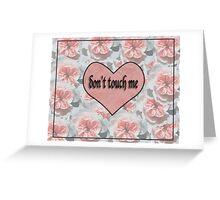 Floral Warning Greeting Card