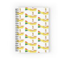 Magical Yellow Sub Spiral Notebook