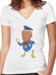 Donald Dump Women's Fitted V-Neck T-Shirt