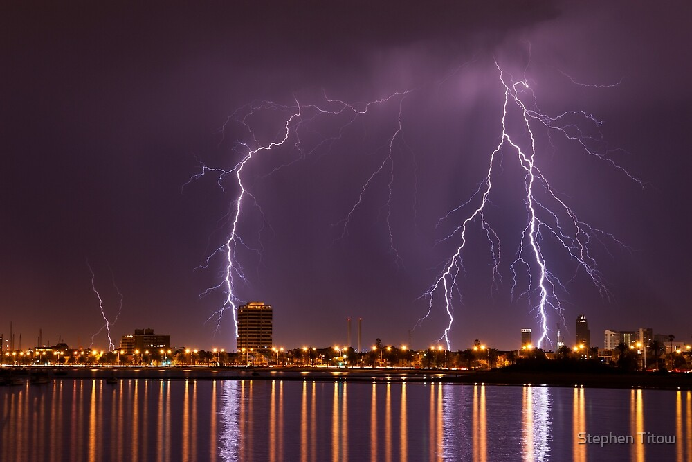 Melbourne Heat & Lightning by Stephen Titow