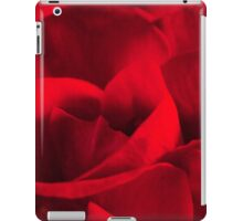 Satin-red rose petals iPad Case/Skin