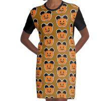 Halloween Ears Graphic T-Shirt Dress
