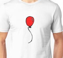 Cartoon Red Balloon Doodle Unisex T-Shirt