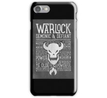 Warlock iPhone Case/Skin