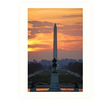 D.C. City Sunset Art Print