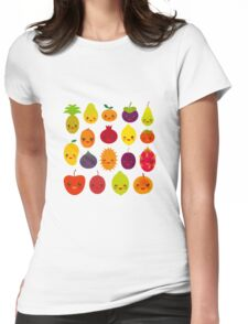 Happy Fruits Womens Fitted T-Shirt
