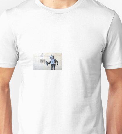 Banksy robot street art Unisex T-Shirt