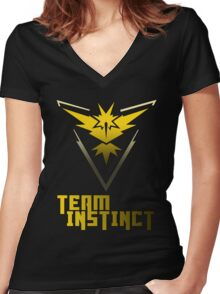 Team Instinct! - Pokemon Women's Fitted V-Neck T-Shirt