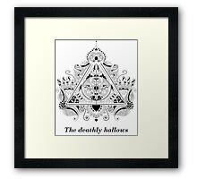 The Deathly Hallows Design Framed Print