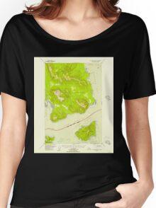 USGS TOPO Map Alaska AK Mount Fairweather B-1 357582 1948 63360 Women's Relaxed Fit T-Shirt