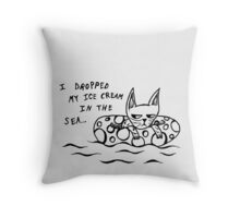 Summer Disappointment Throw Pillow