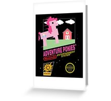 little pony 8 bit Greeting Card