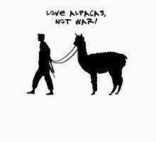 Love alpacas, not war! Unisex T-Shirt