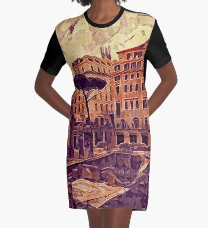 Campus Martius Julius Caesar Ancient Rome Italy Architecture Graphic T-Shirt Dress