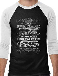 I'M A BOOK READER  Men's Baseball ¾ T-Shirt