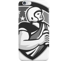 American Football With Ball Shield Grayscale iPhone Case/Skin