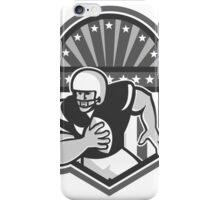 American Football Player Ball Running Grayscale iPhone Case/Skin