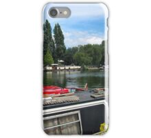 Narrowboats on the Thames iPhone Case/Skin