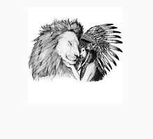 Native American and a Lion Unisex T-Shirt