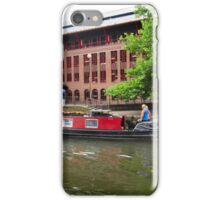 Canal boat in the city. iPhone Case/Skin