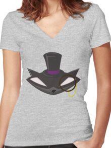 The Gentleman Thief Emblem Women's Fitted V-Neck T-Shirt