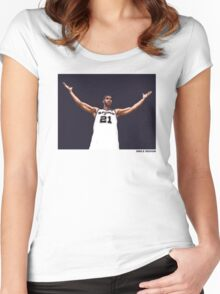 Tim Duncan Retirement Special Edition - SMILE DESIGN Women's Fitted Scoop T-Shirt
