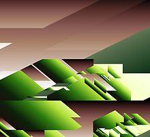 Abstract Sun Green by pennydigital